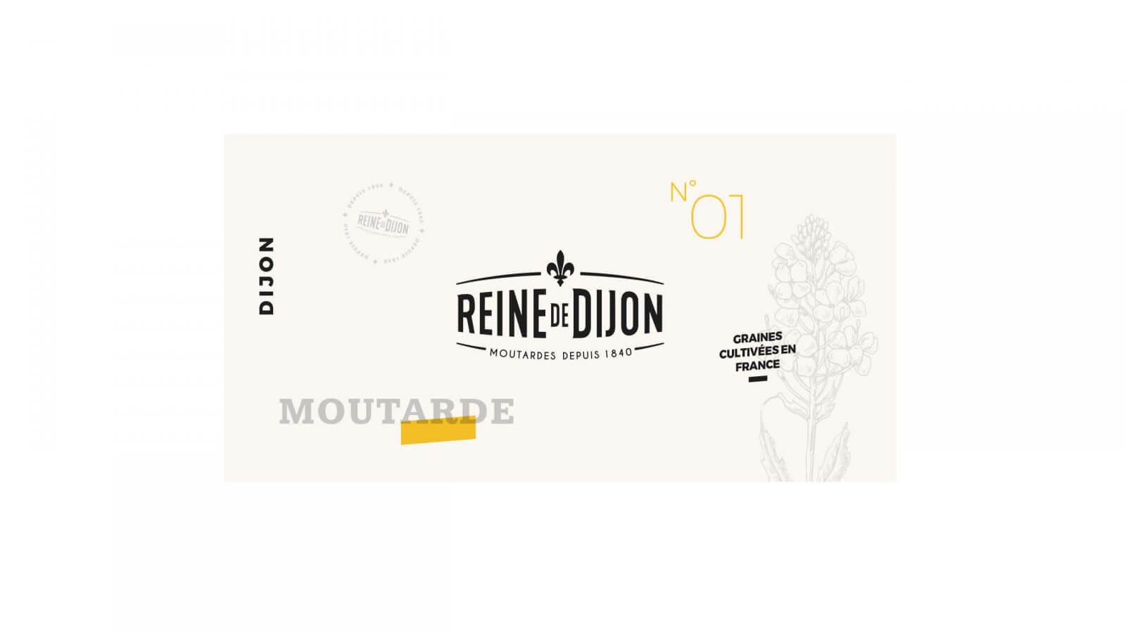 design étiquette pack moutarde