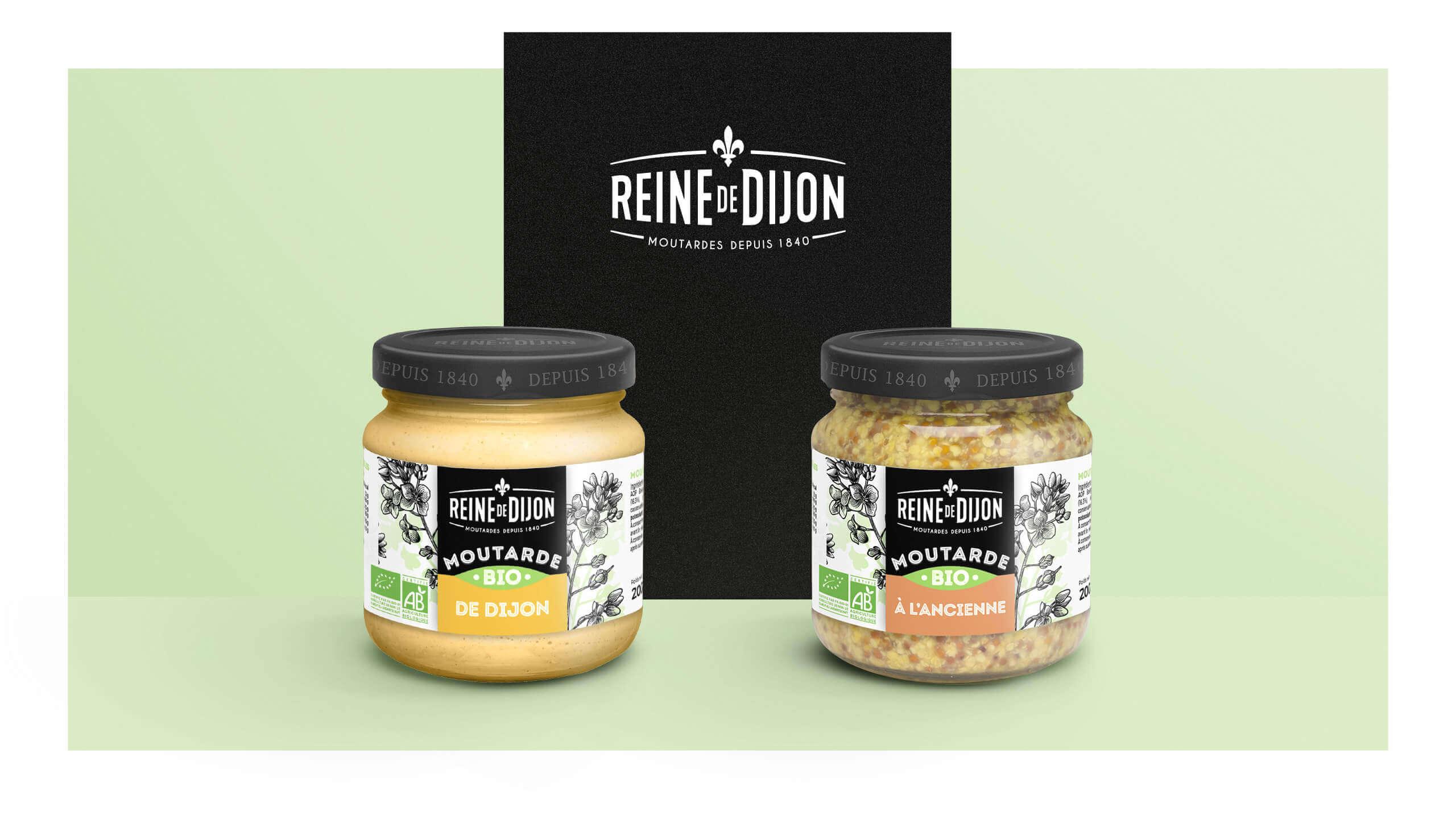 identité packaging bio moutarde