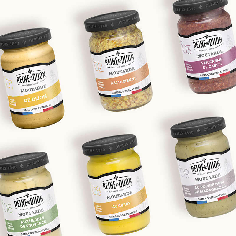 packaging gamme bio reine de de dijon