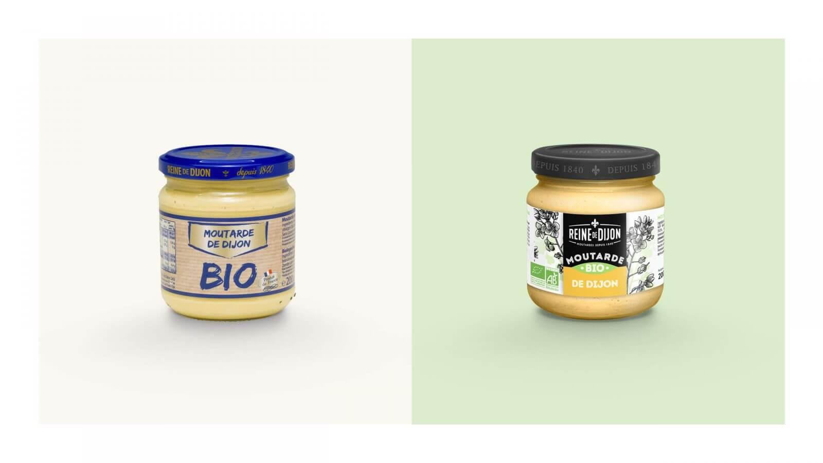 refonte packaging produit bio moutarde dijon