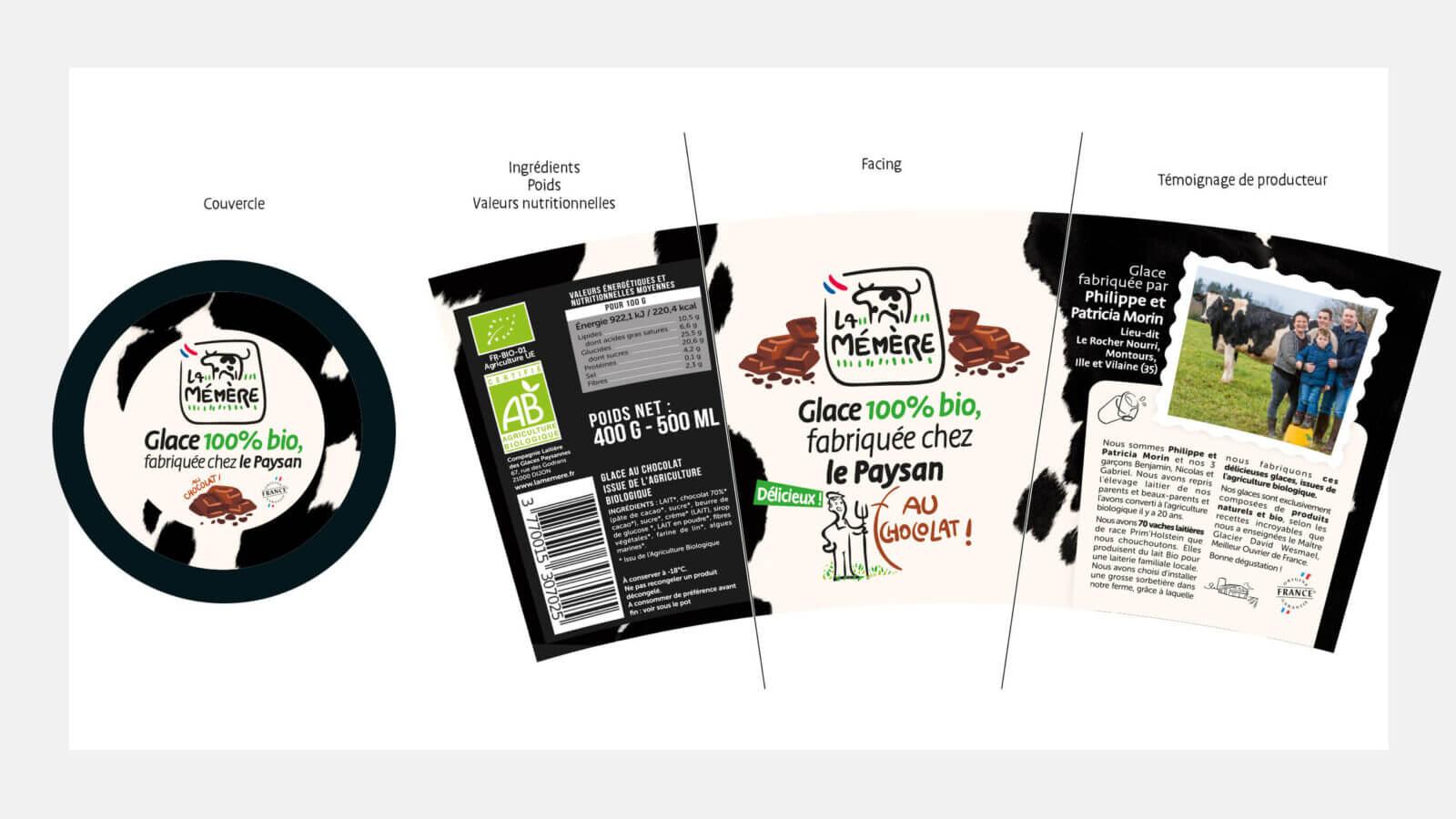 identité packaging et univers de marque la mémère