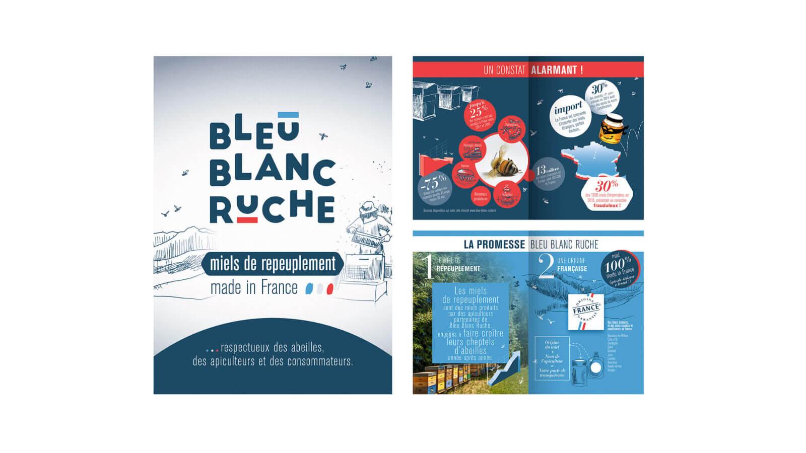 promotion de marque Bleu Blanc Ruche