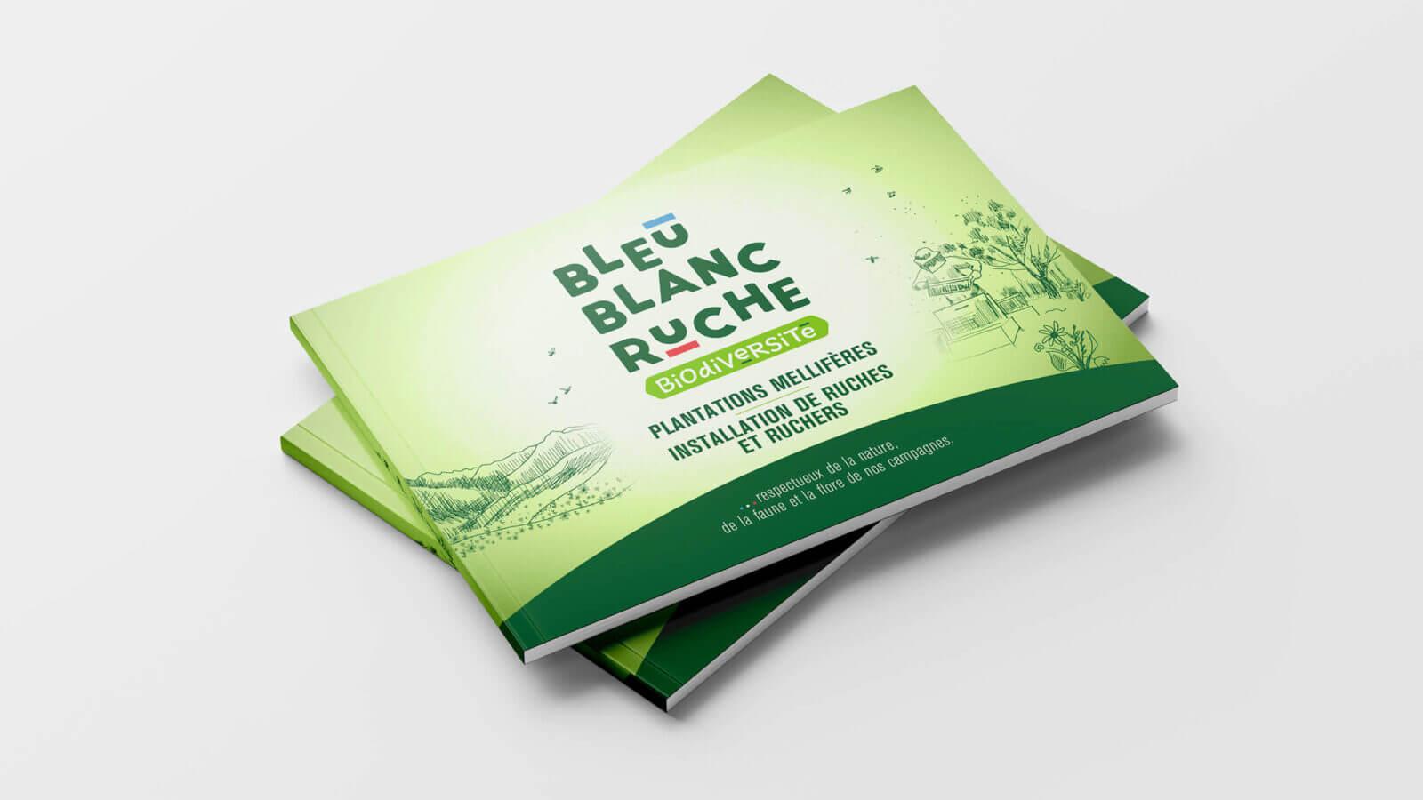 support de vente brochure Bleu Blanc Ruche