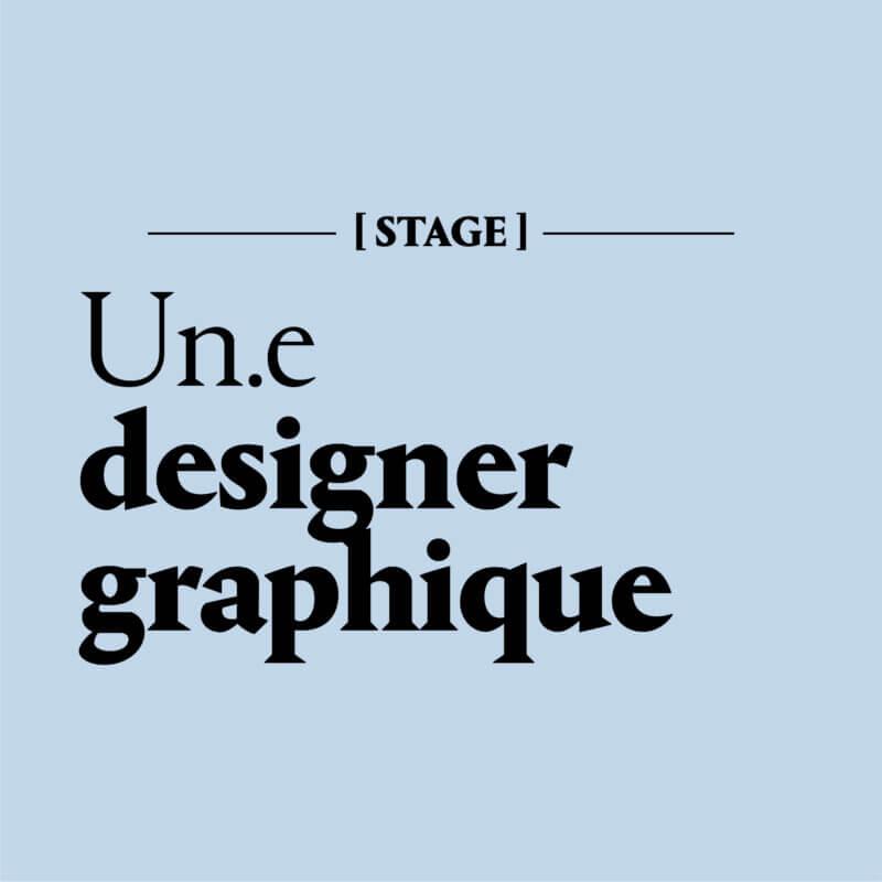 Designer graphique en Stage