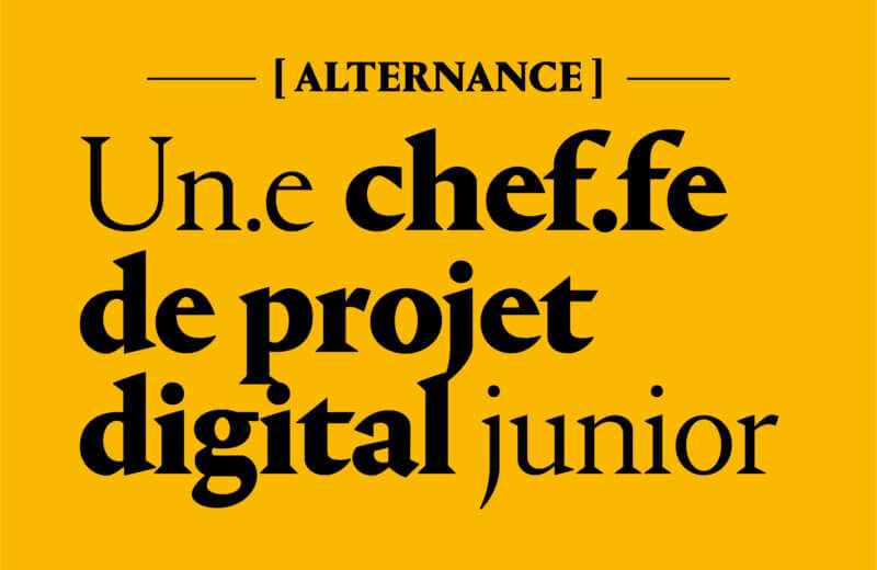 Chef de projet digital junior en Alternenance