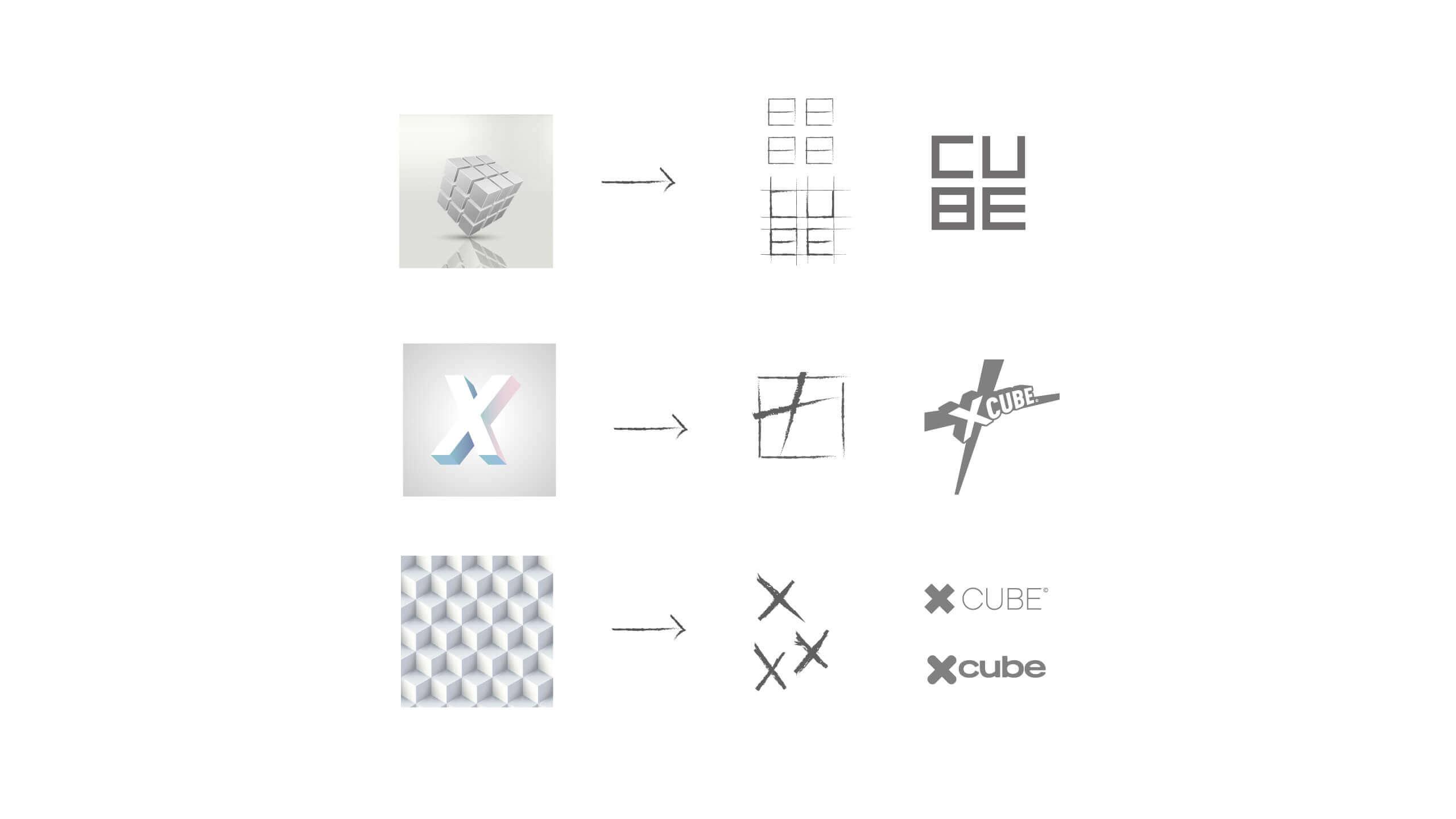 création logo X Cube
