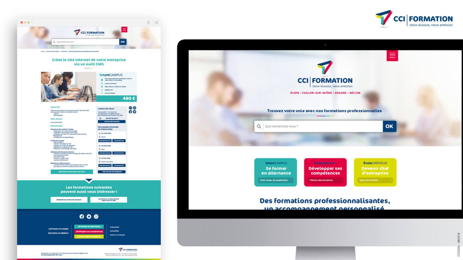 Réalisation d'un site web sur-mesure CCI Formation