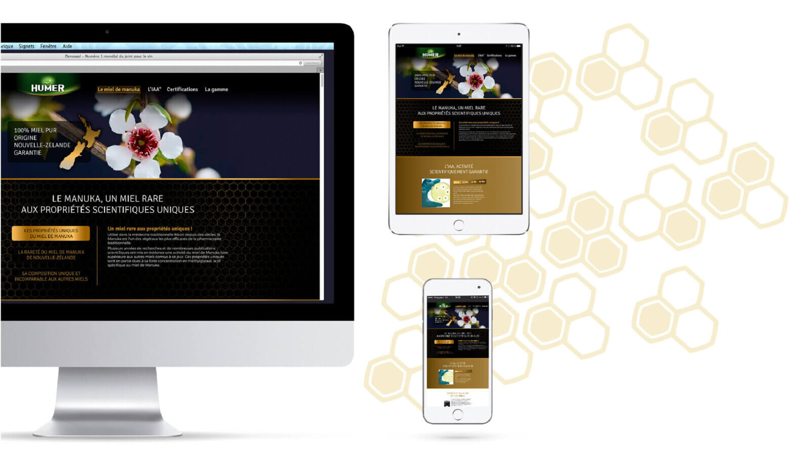 site web manuka responsive