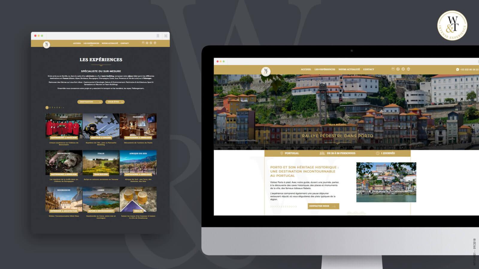 Création d'un site web Wine & Tours