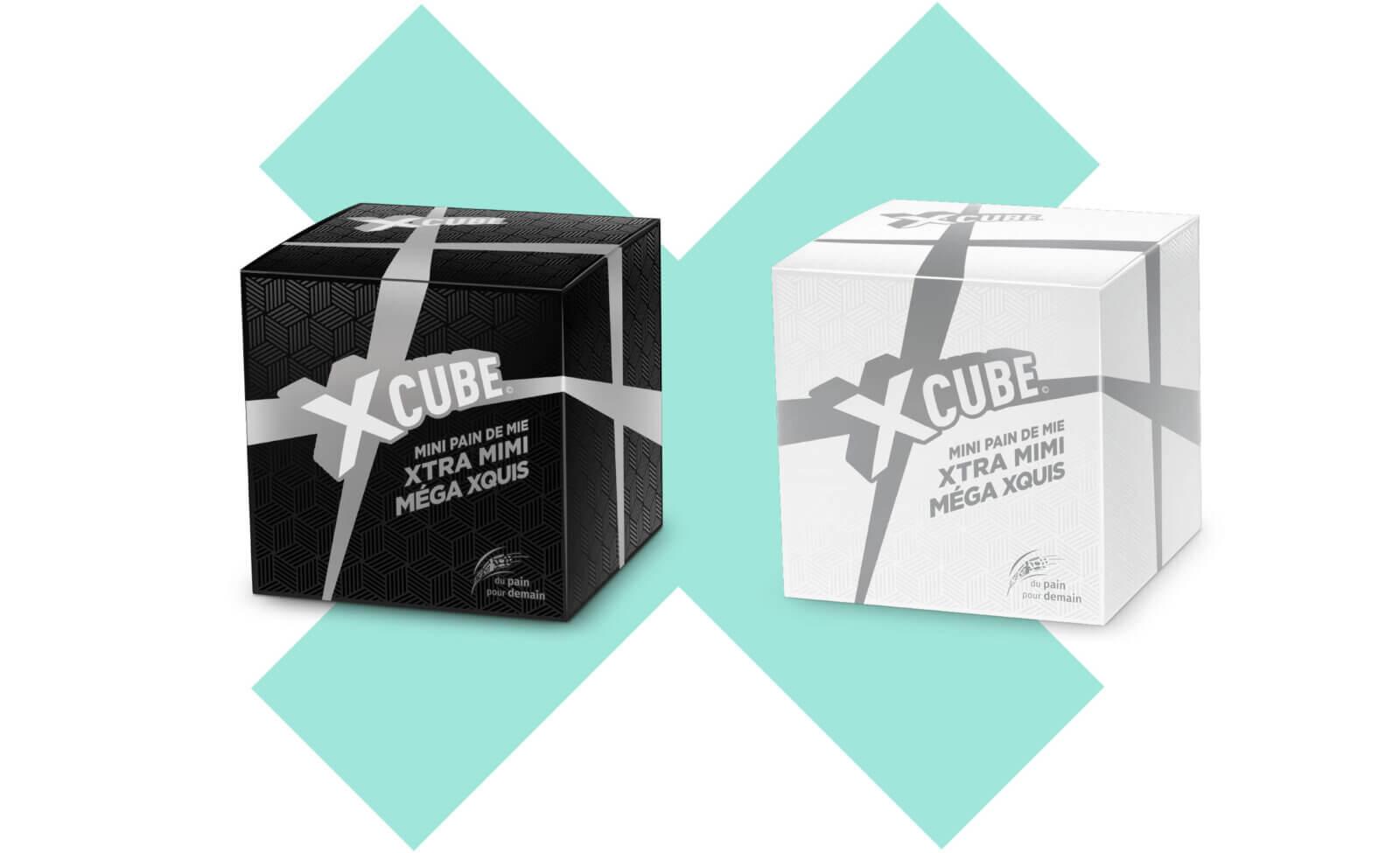visuel packaging X Cube