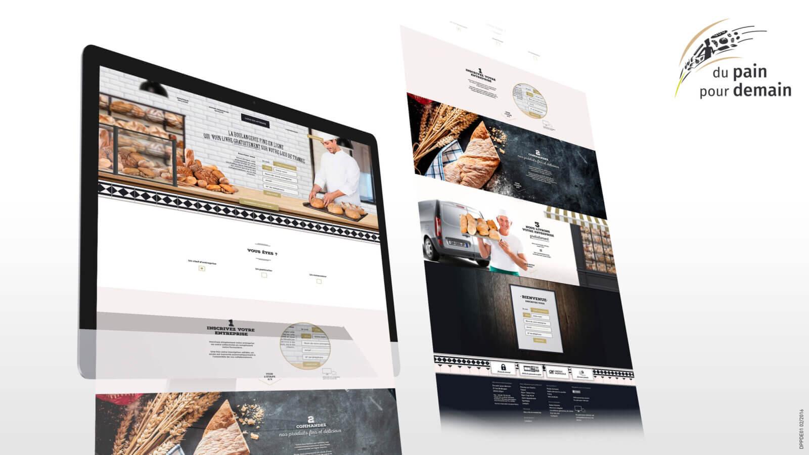 Création du site vitrine du meilleur boulanger de France (M6)