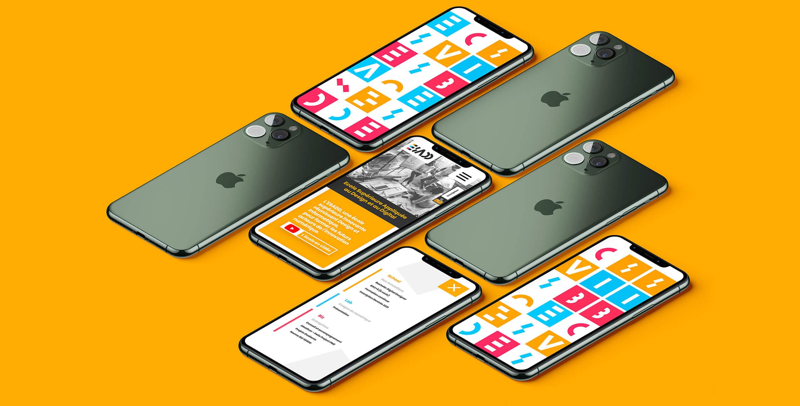 Site vitrine et nouvelle identité pour l'Ecole Supérieure Appliquée au Design et au Digital