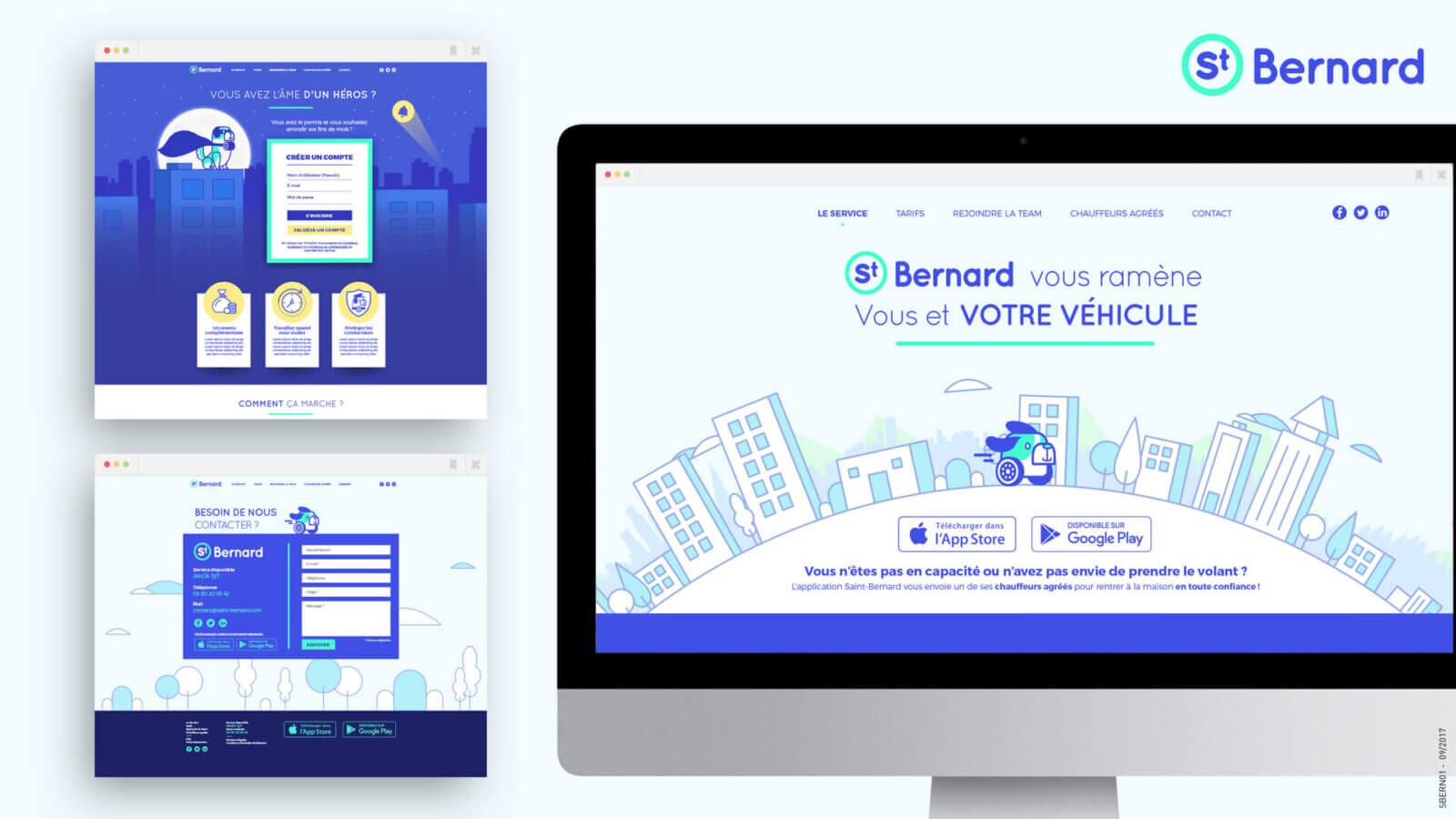 Création du site web d'une start-up
