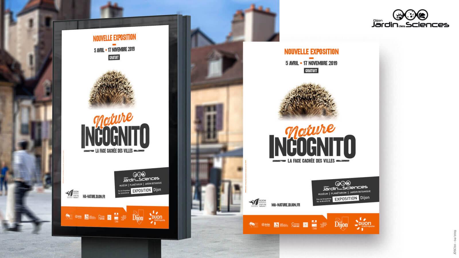 Création d'affiche évènementielle Exposition Nature Incognito à Dijon