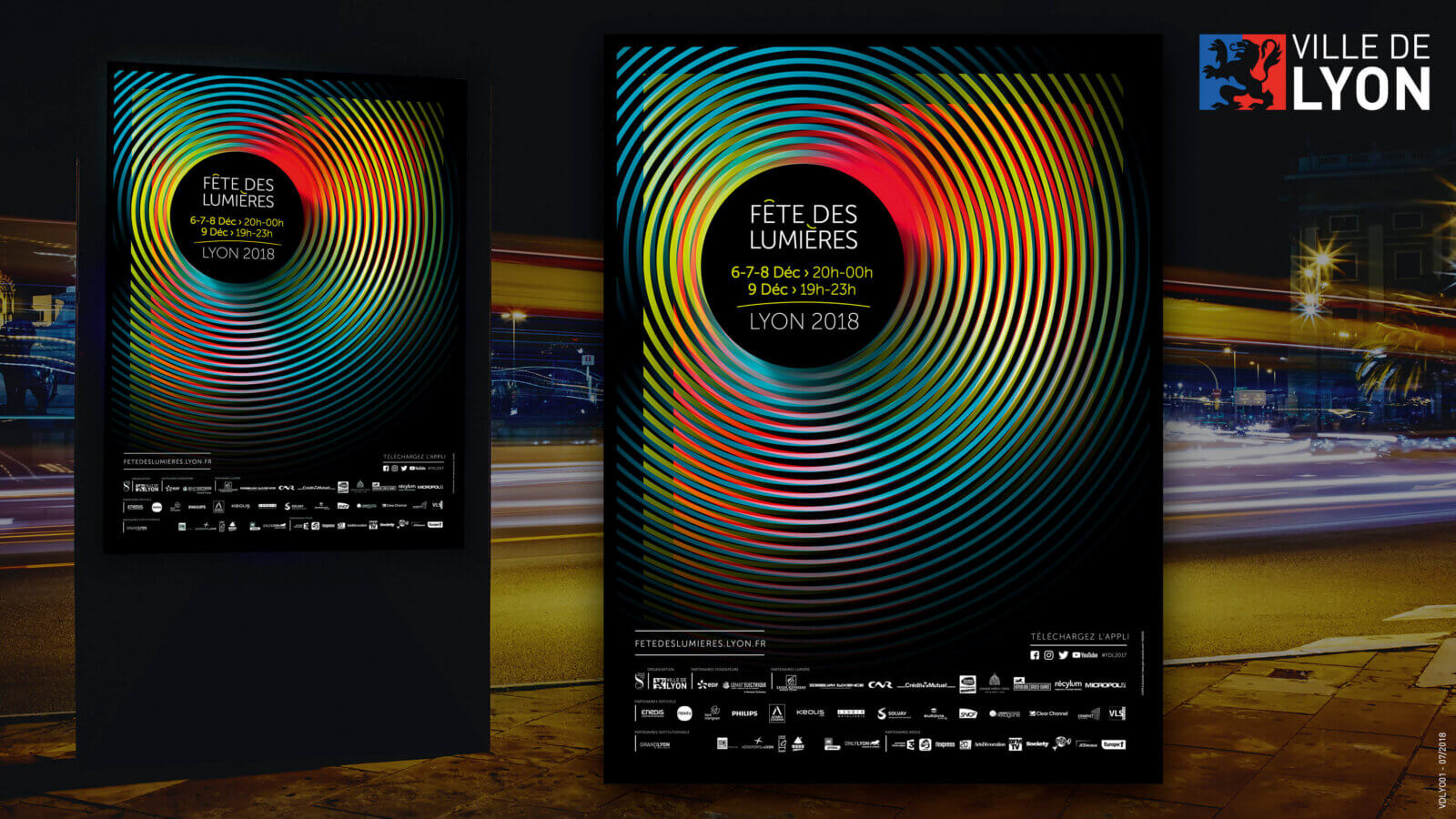affiche promotion fête des lumières de lyon
