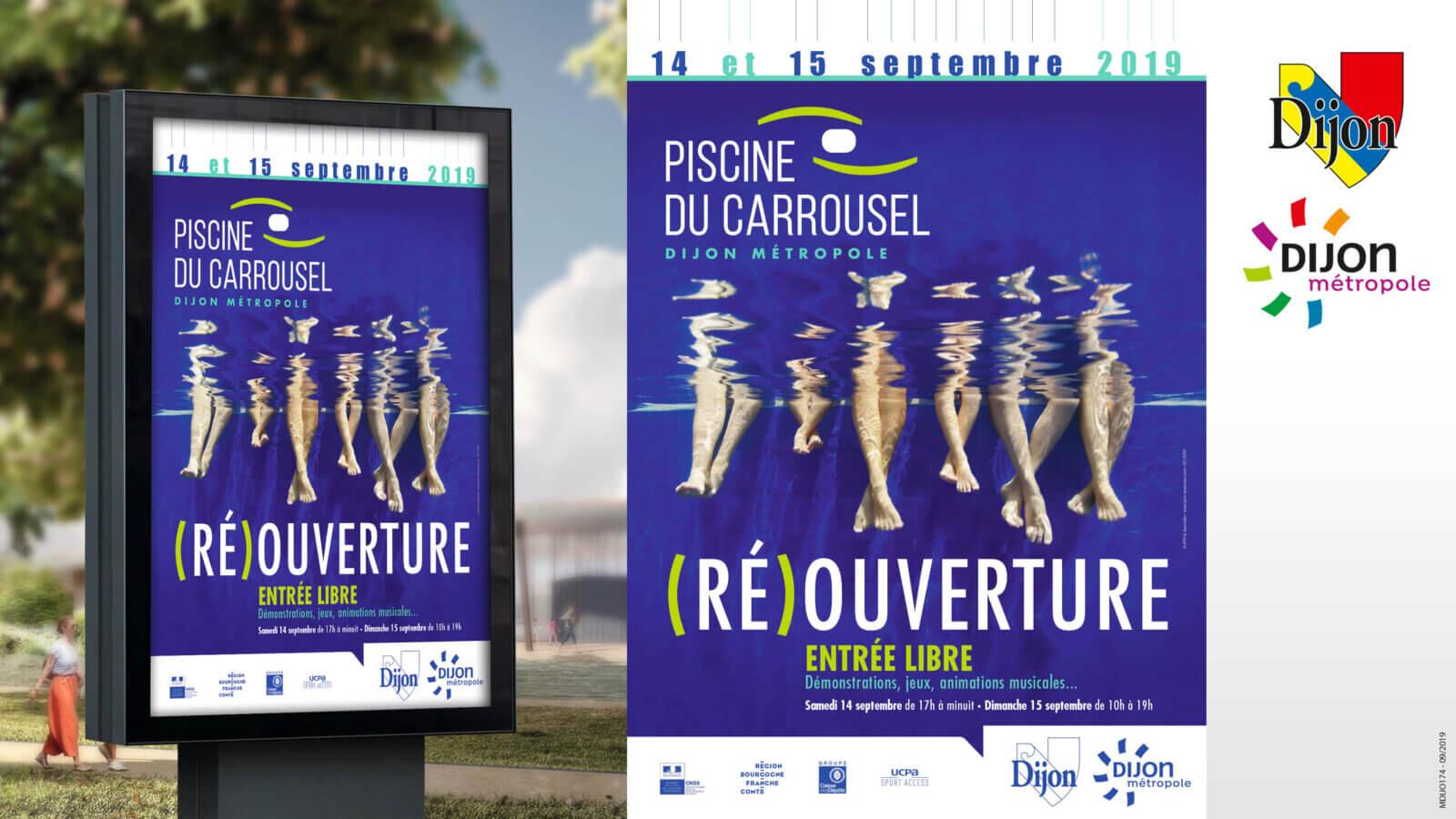affiche réouverture piscine dijon