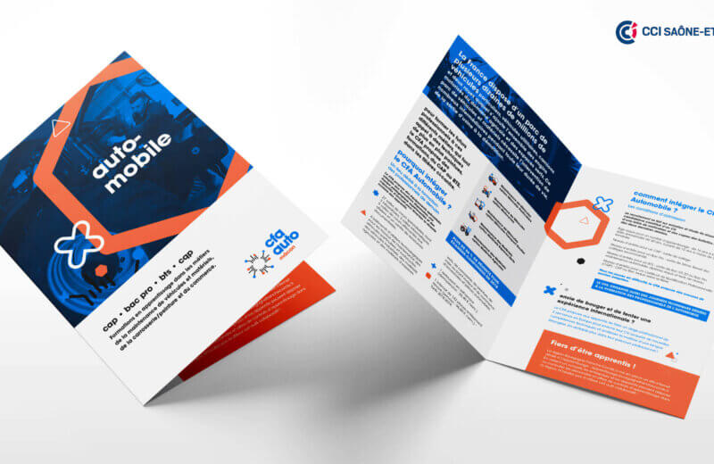 brochure print de communication