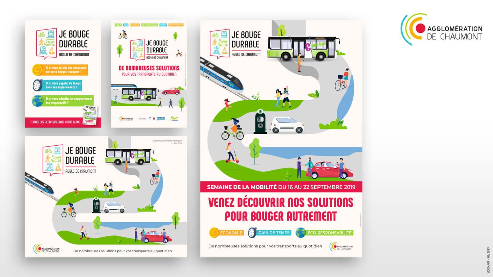 Création d'un kit de communication pour la ville de chaumont