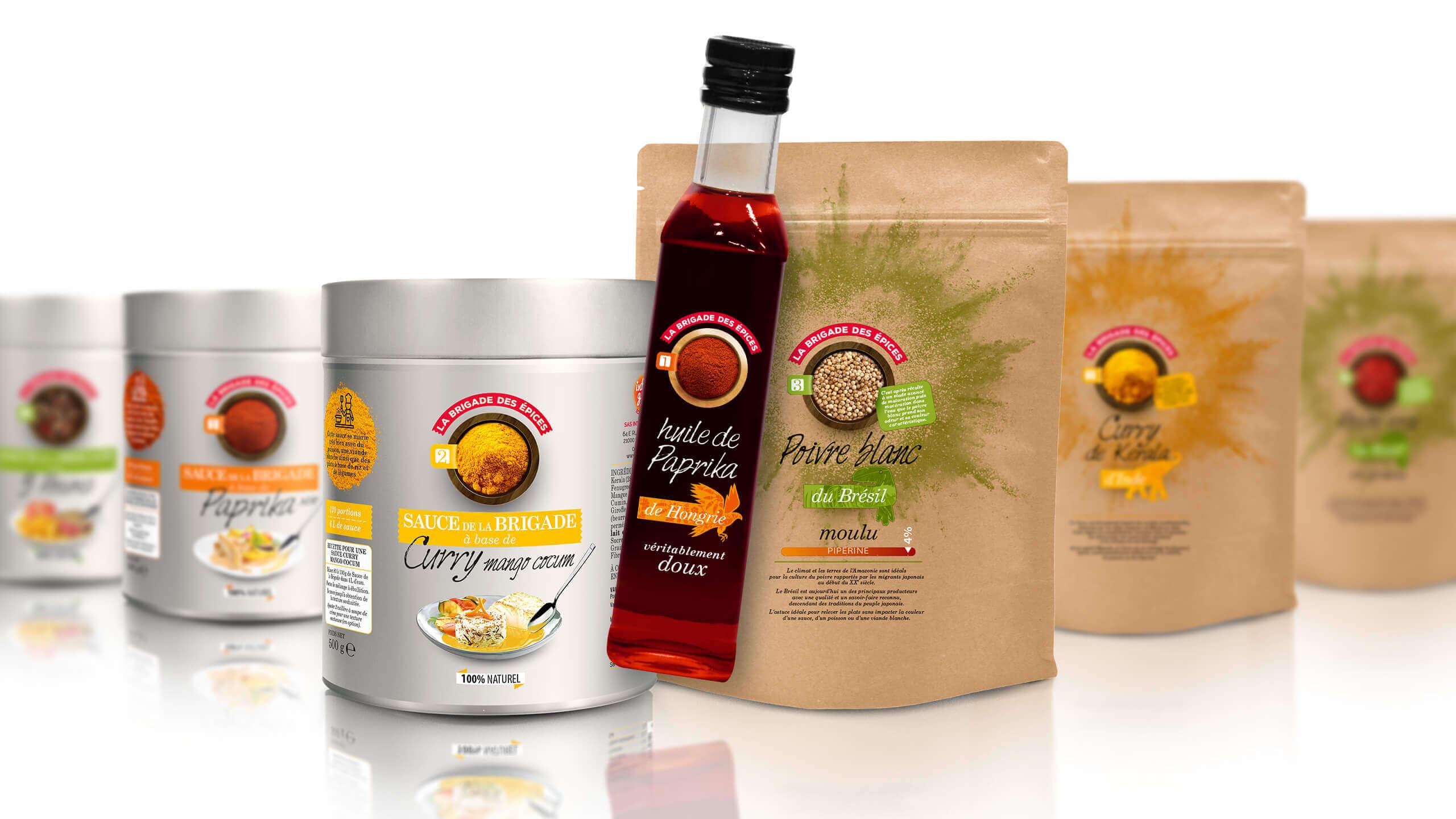 packaging de gamme brigade des épices