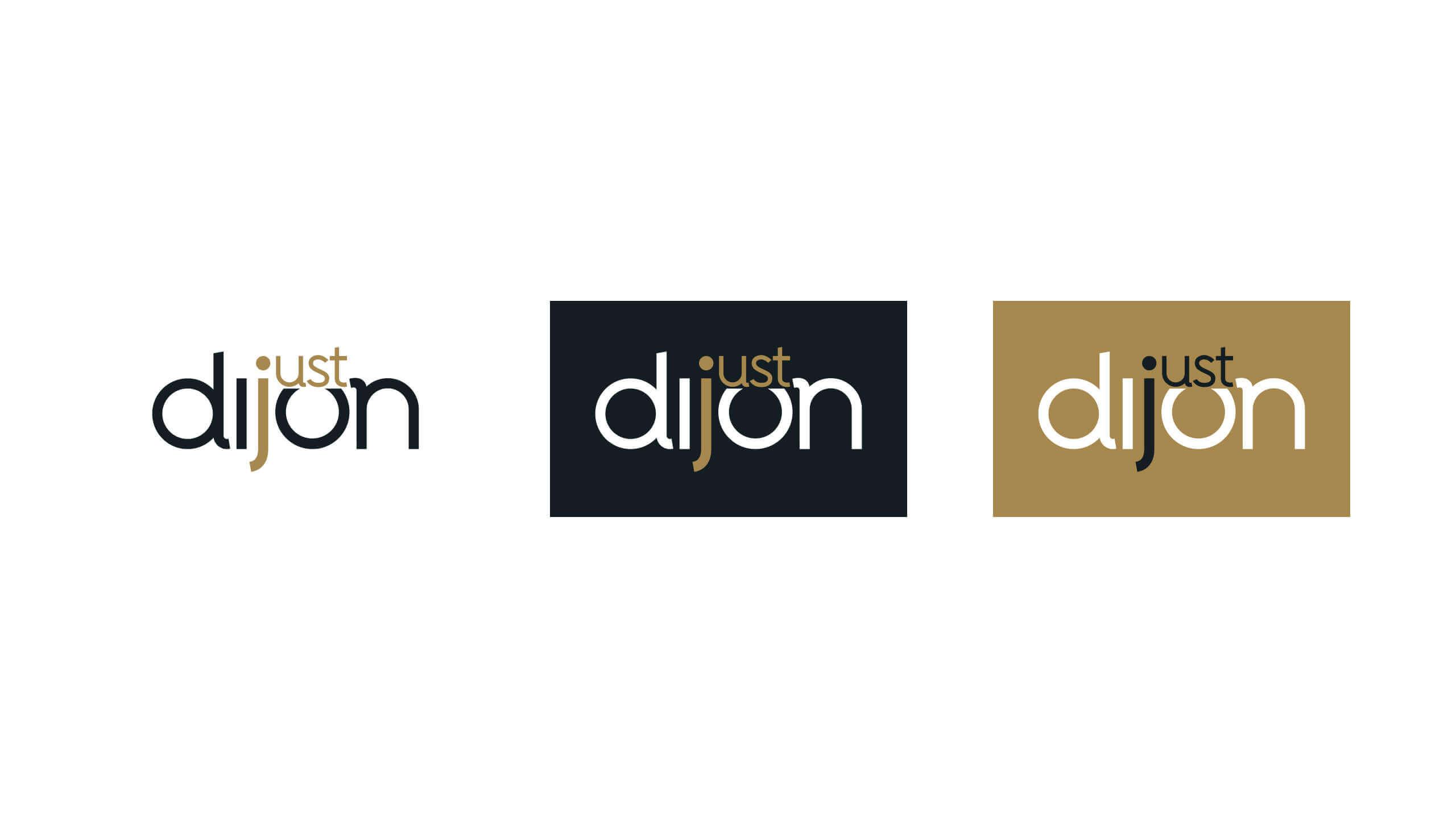 Identité visuelle de la marque territoriale Just Dijon