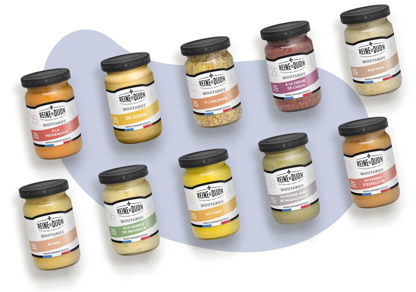 packaging de gamme bio reine de dijon