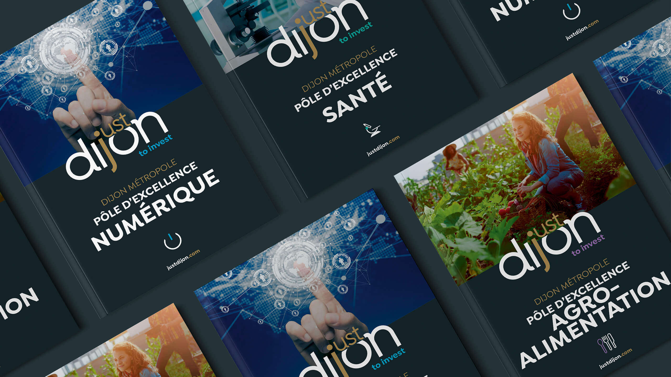 supports de communication Just Dijon