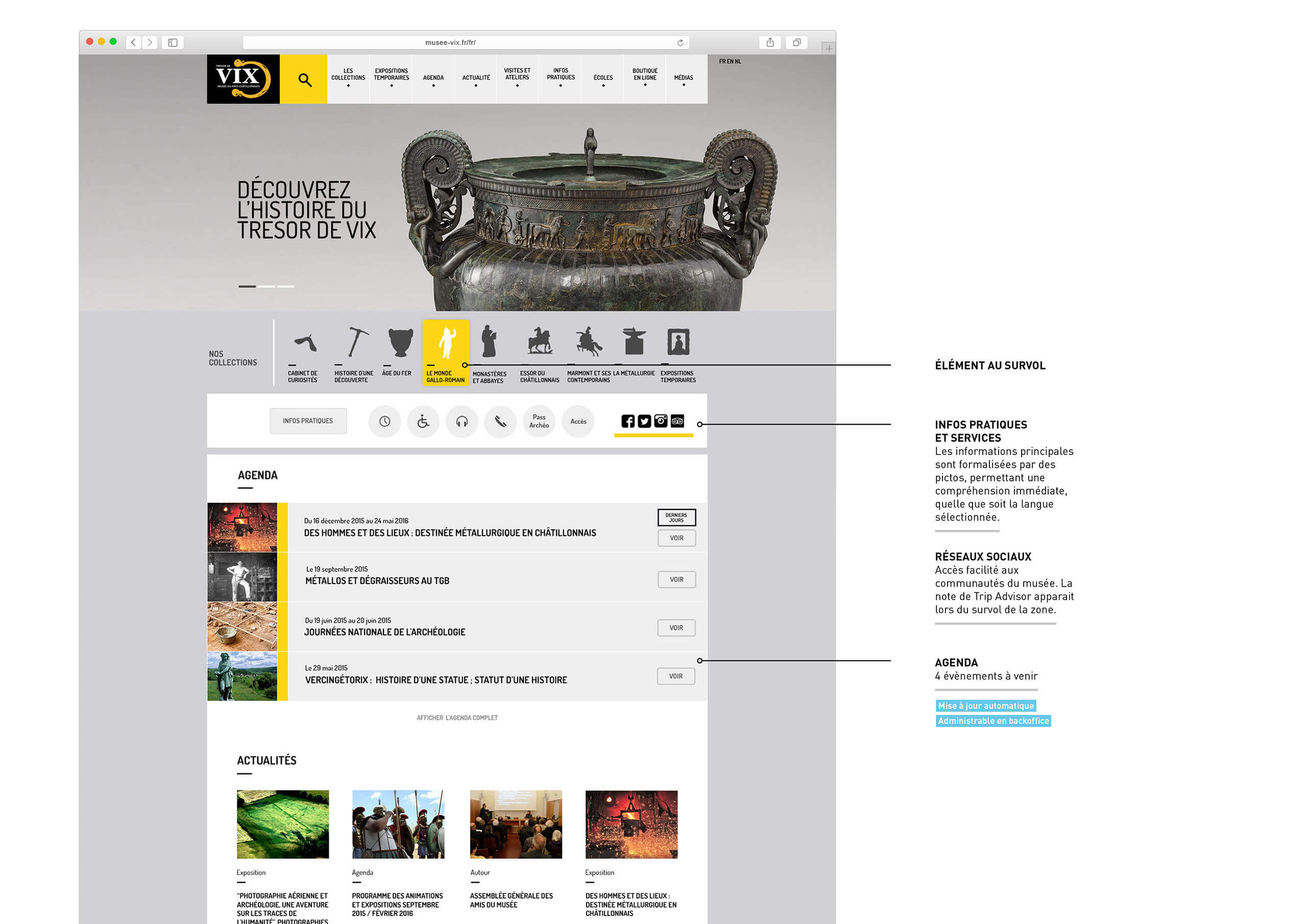Accueil site internet Musée du Pays Châtillonnais