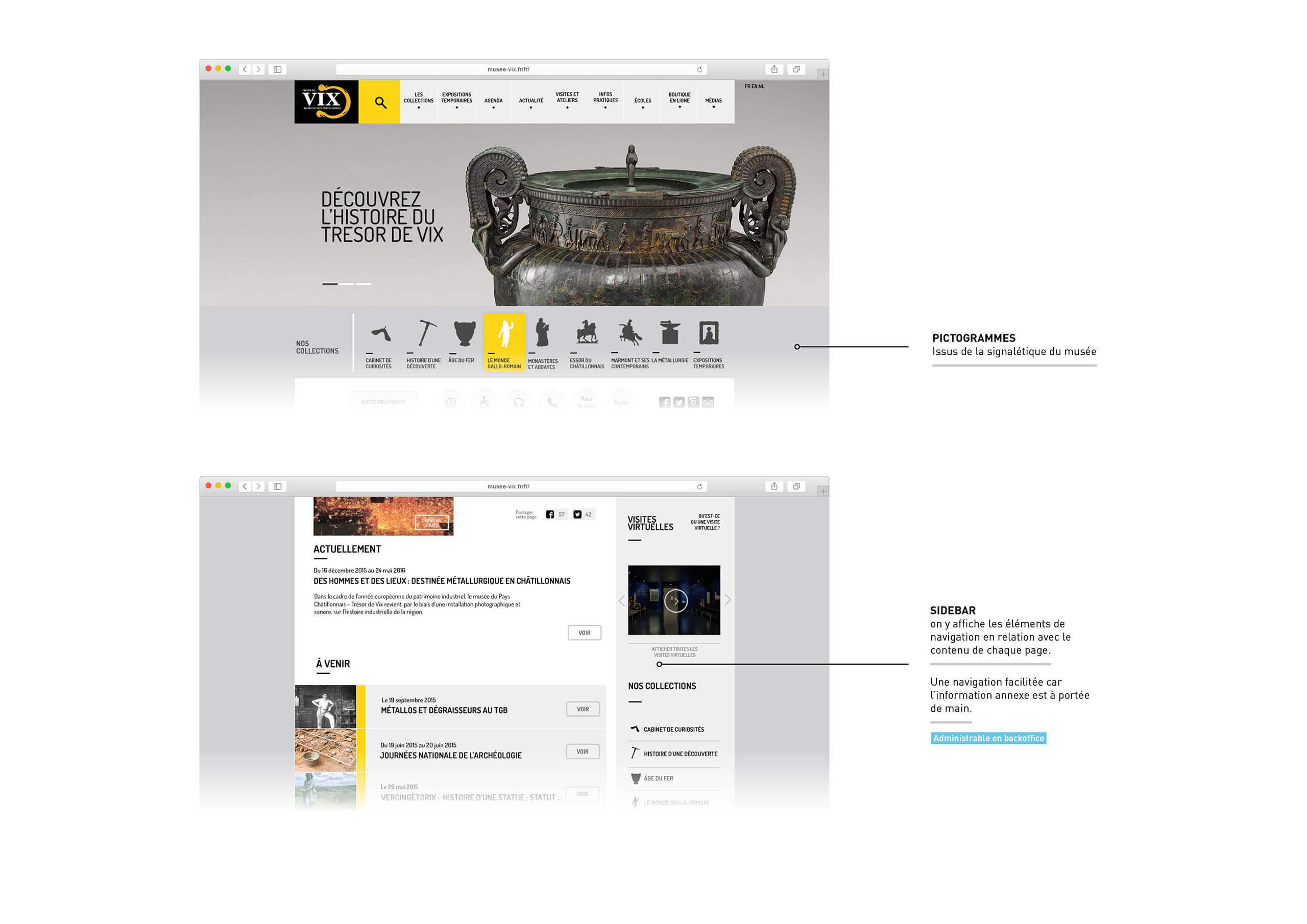 Navigation site internet