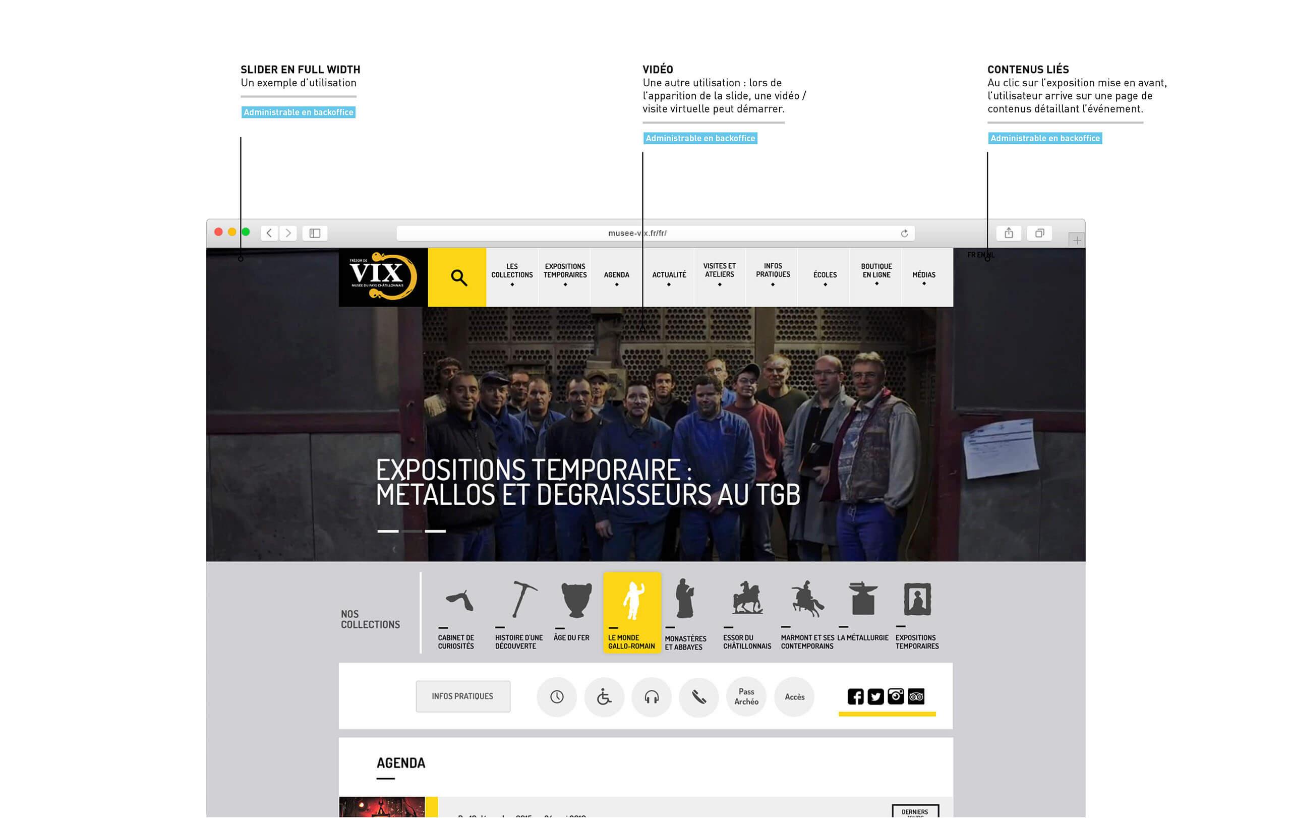 Slider Accueil site internet Musée du Pays Châtillonnais