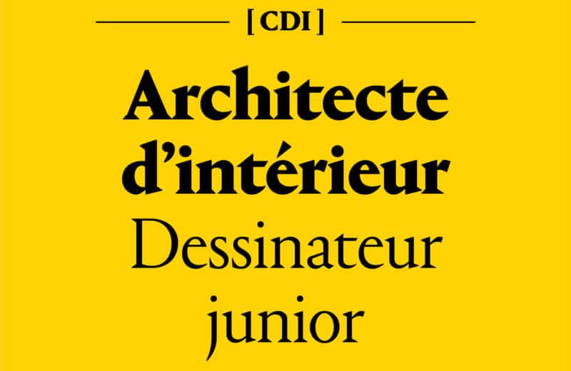 Architecte d'intérieur dessinateur junior en CDI