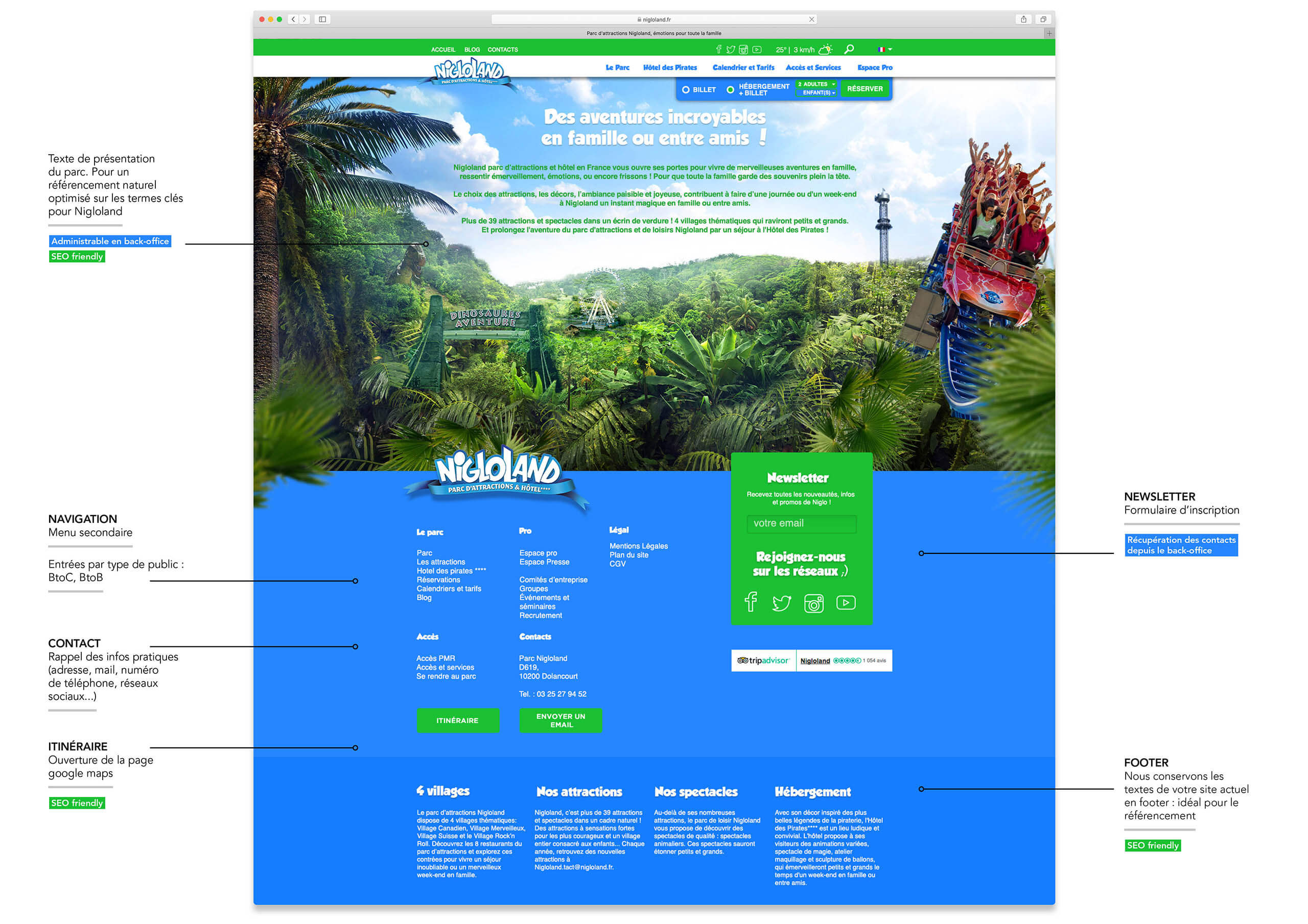 Footer site Nigloland