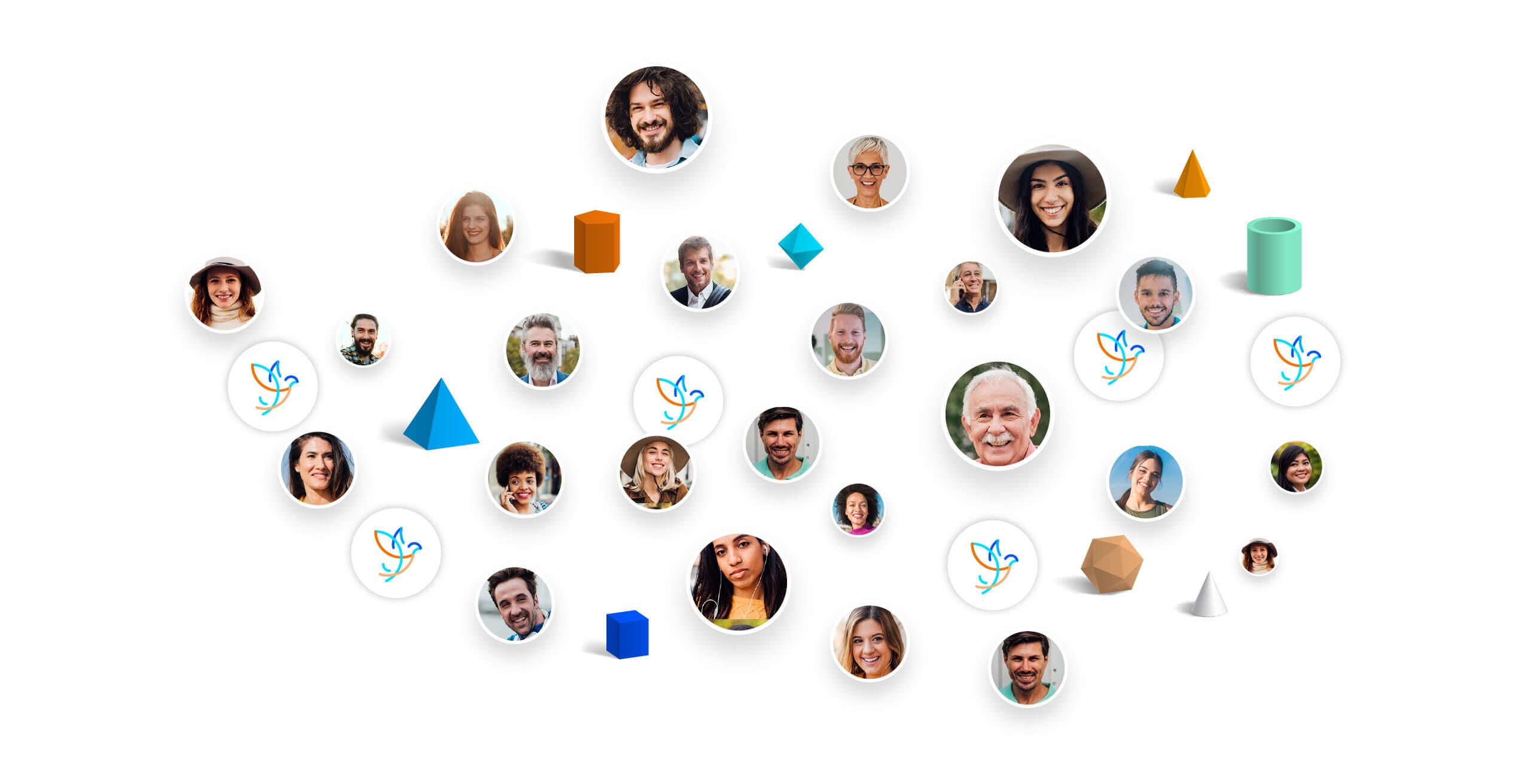 Principe de visualisation des communautés